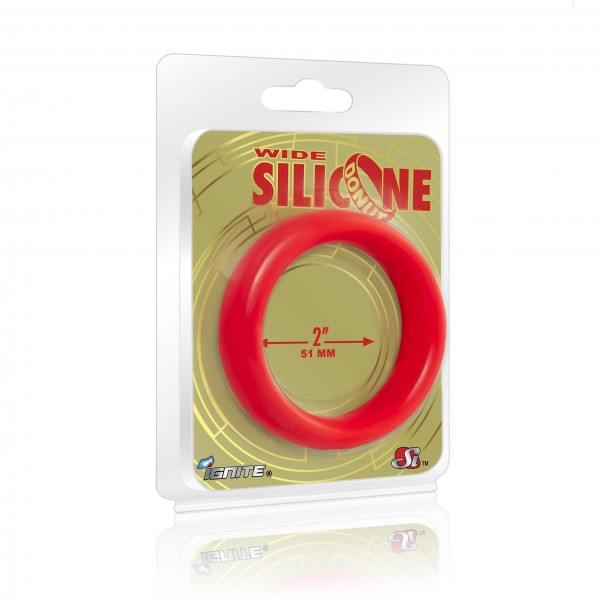 Wide Silicone Donut Red